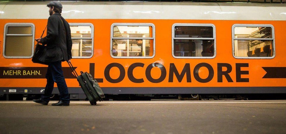 Vlak Locomore na trati Berlin-Stuttgart