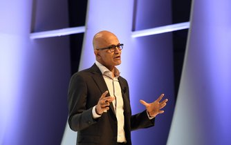 Šéf Microsoftu Satya Nadella na pražské konferenci Digital Opportunities and Transformation Summit 2017