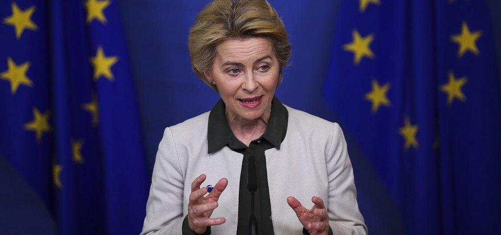 Šéfka Evropské komise Ursula von der Leyenová