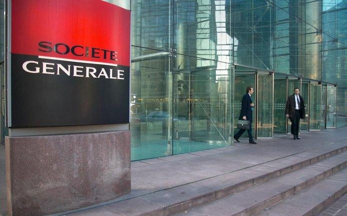 1dc42da27a5 Budova francouzské banky Societe Generale v pařížské čtvrti La Defense