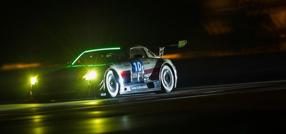 V Brně se ukáže i Mercedes SLS AMG GT3 švýcarské stáje Hofor-Racing. Patří k favoritům. (Zdroj: 24hseries)