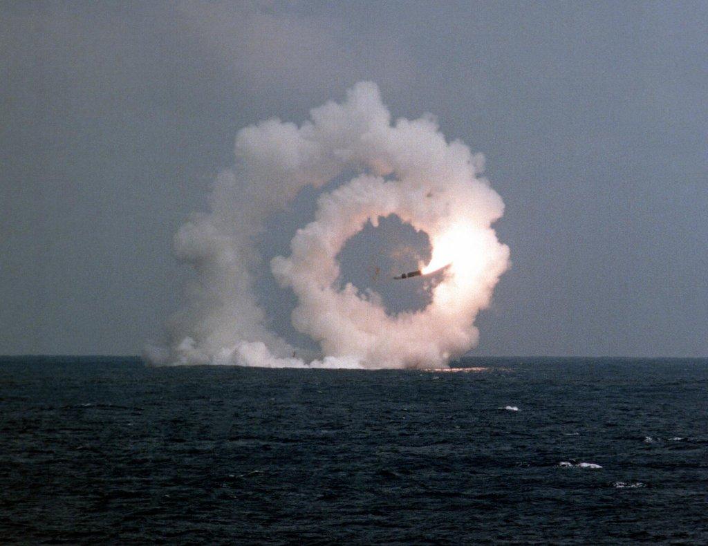 Střela Trident vypálená z ponorky