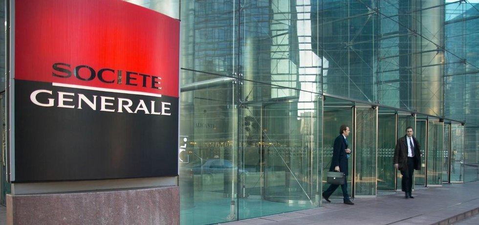 Budova francouzské banky Societe Generale v pařížské čtvrti La Defense