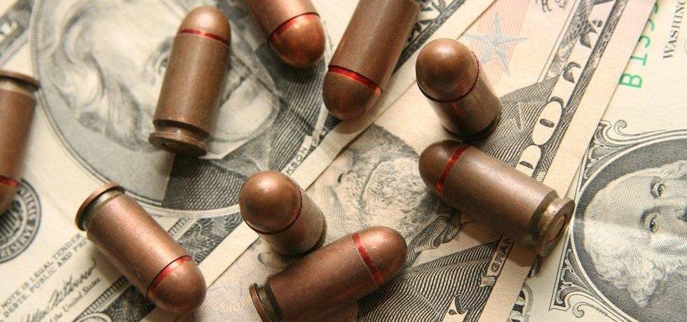 Náboje a dolary, ilustrační foto