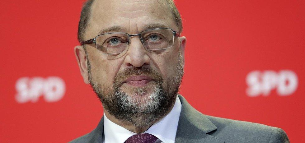 Předseda německé sociální demokracie SPD Martin Schulz