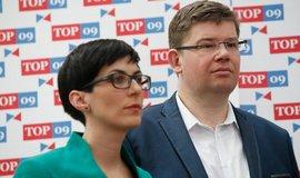 První místopředsedkyně TOP 09 Markéta Pekarová Adamová a předseda strany Jiří Pospíšil