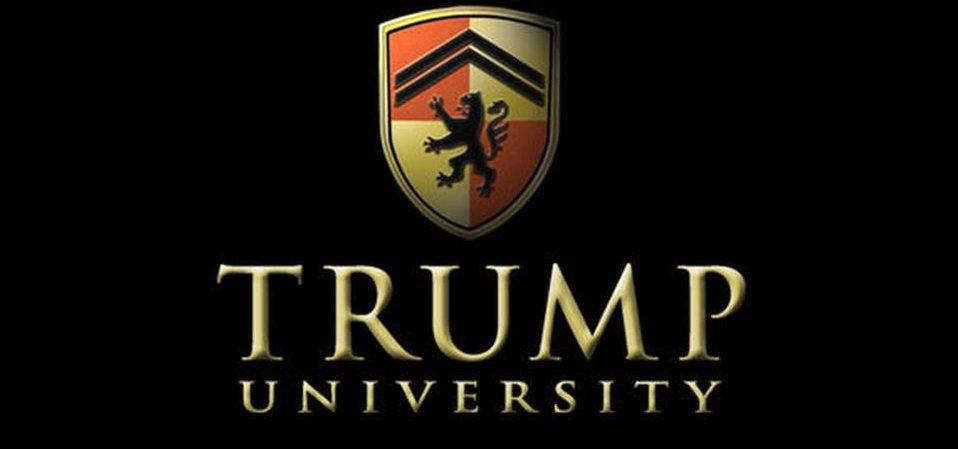 Logo Trump University, soukromé vzdělávací instituce známého miliardáře Donalda Trumpa