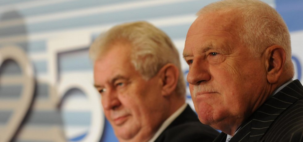 Miloš Zeman a Václav Klaus