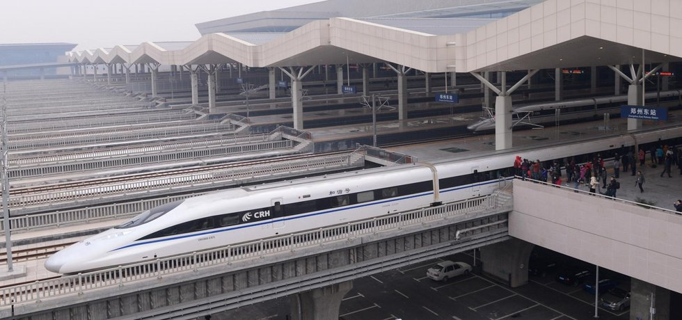 vysokorychlostní železnice z Pekingu do Kantonu