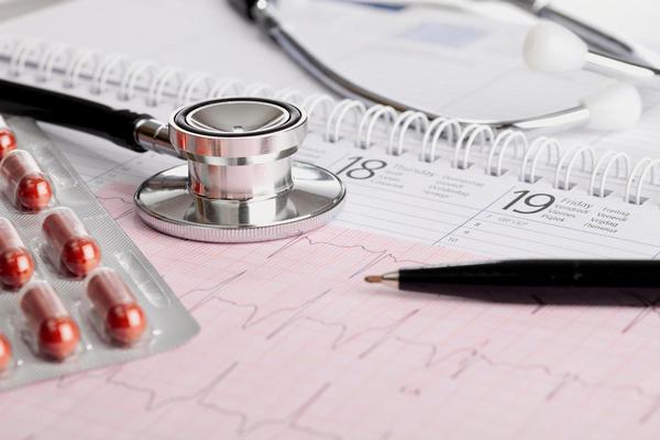 kalendář, léky, stetoskop, zdravotnictví