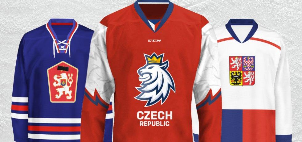 Jak se měnily dresy národní hokejové reprezentace?