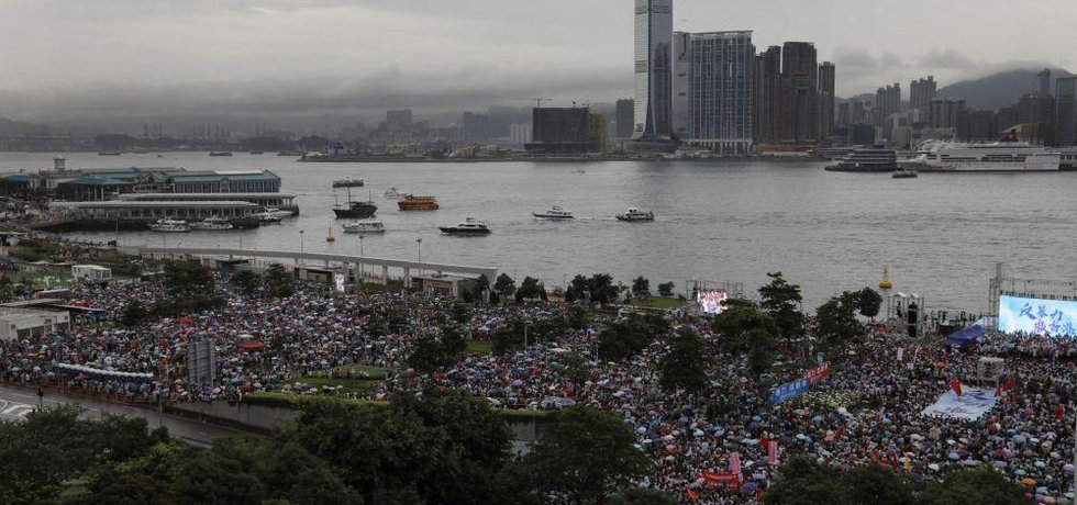 Demonstrace v hongkongském přístavu