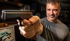 Vytištěná pistole na tiskárně 3D, ilustrační foto