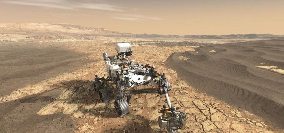 Vizualizace roveru Mars 2020