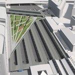 Masarykovo nádraží - Nová platforma nad kolejištěm