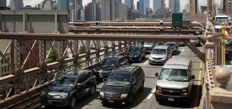 Automobilový provoz v New Yorku, ilustrační foto