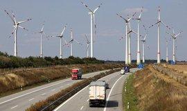 Větrné turbíny na severu Německa, ilustrační foto