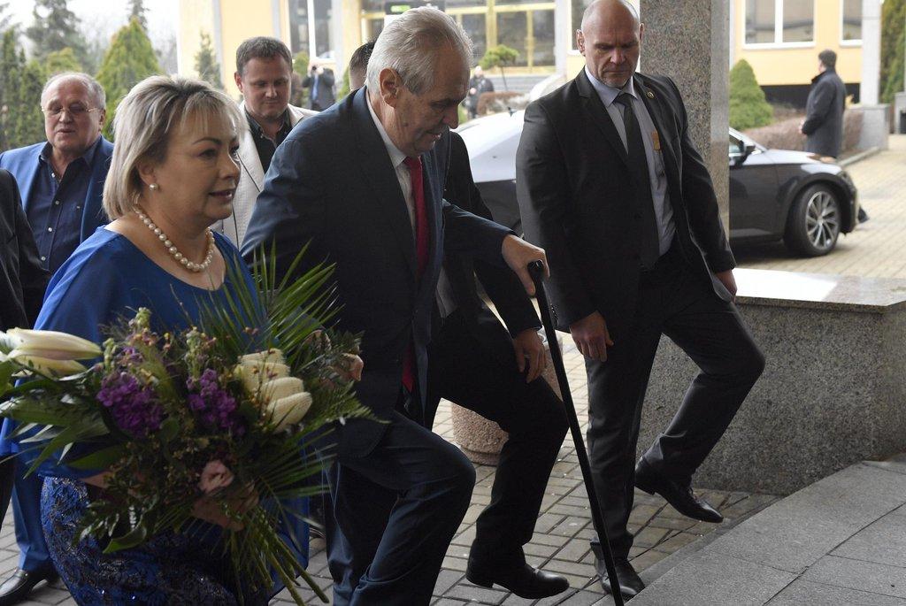 Prezident Miloš Zeman a jeho manželka Ivana