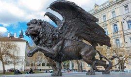 památník čs. letců RAF na Klárově v Praze