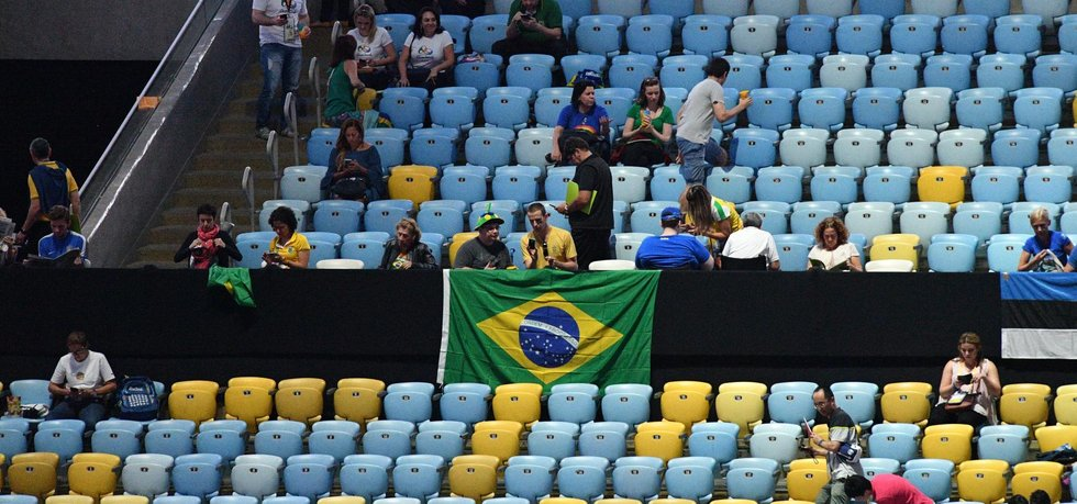 Prázdná tribuna na zahajovacím ceremoniálu olympiády v Riu (Zdroj: ČTK)