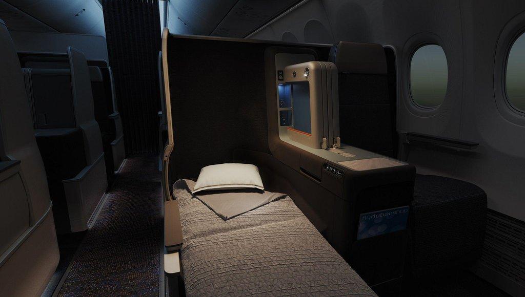 Deset míst v byznysové třídě Boeingu 737 Max 8 lze změnit na lůžka. Společnost Flydubai spojuje Prahu se Spojenými arabskými emiráty každý den.