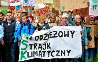 Demonstrace za ochranu klimatu v Polsku, ilustrační foto