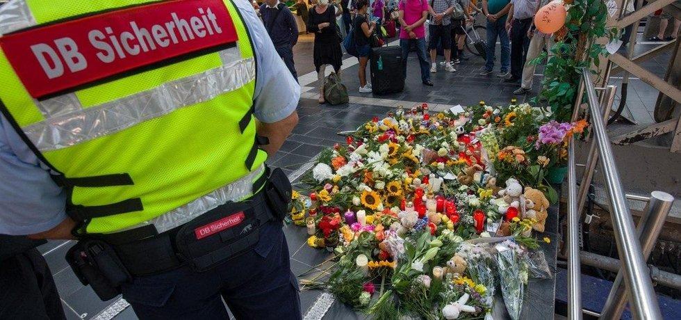 Místo útoku na nádraží ve Frankfurtu nad Mohanem, ilustrační foto