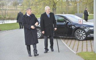 Miloš Zeman na návštěve Čapího hnízda