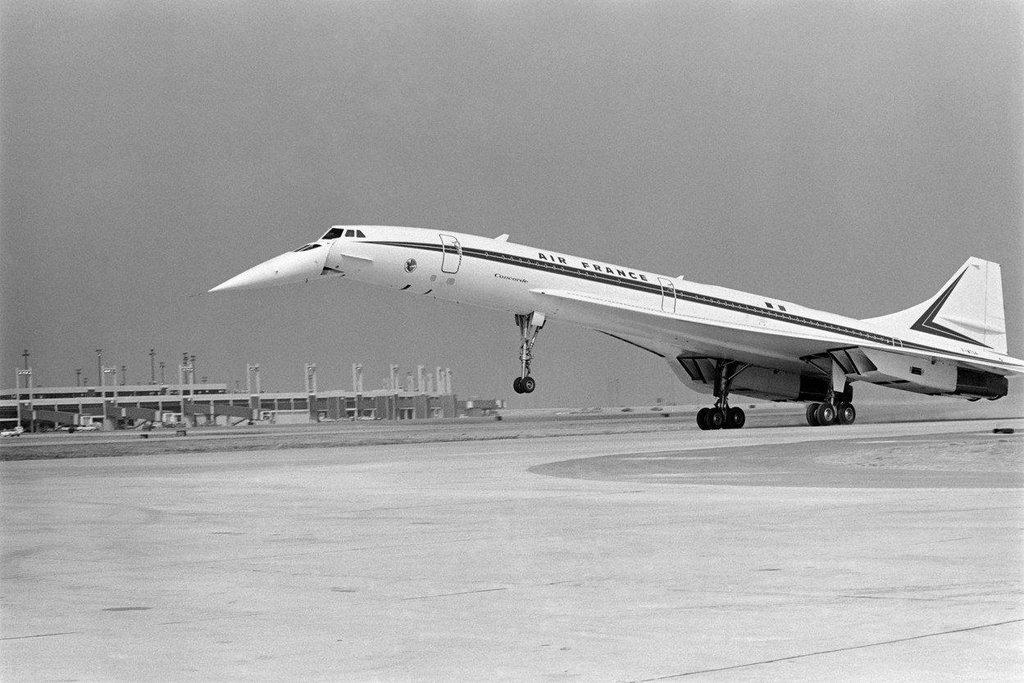 Concorde na letišti v Dallasu