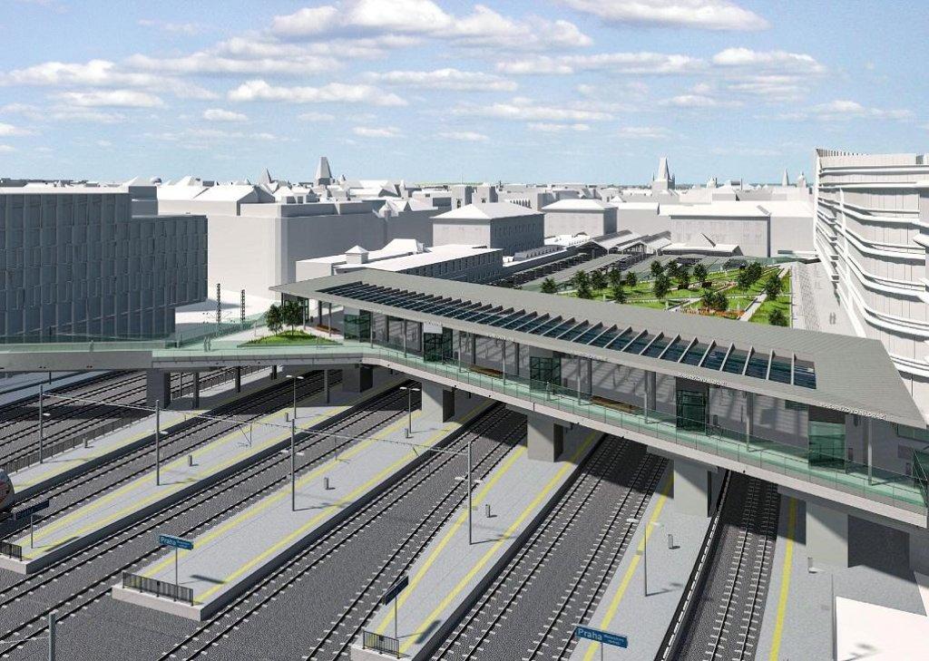 Masarykovo nádraží - Nový východní vestibul nad kolejištěm