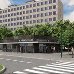 Vizualizace stanice metra D Olbrachtova exteriér