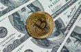 Dolar a bitcoin, ilustrační foto