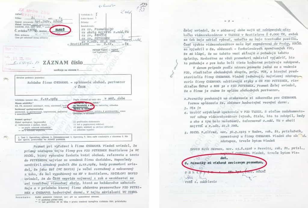 Záznam o Babišově spolupráci s StB