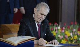 Prezident republiky Miloš Zeman při své druhé inauguraci