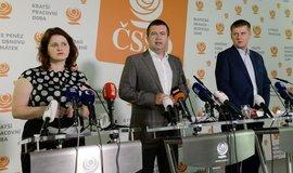 Ministryně práce a sociálních věcí Jana Maláčová, ministr vnitra Jan Hamáček a ministr zahraničí Tomáš Petříček