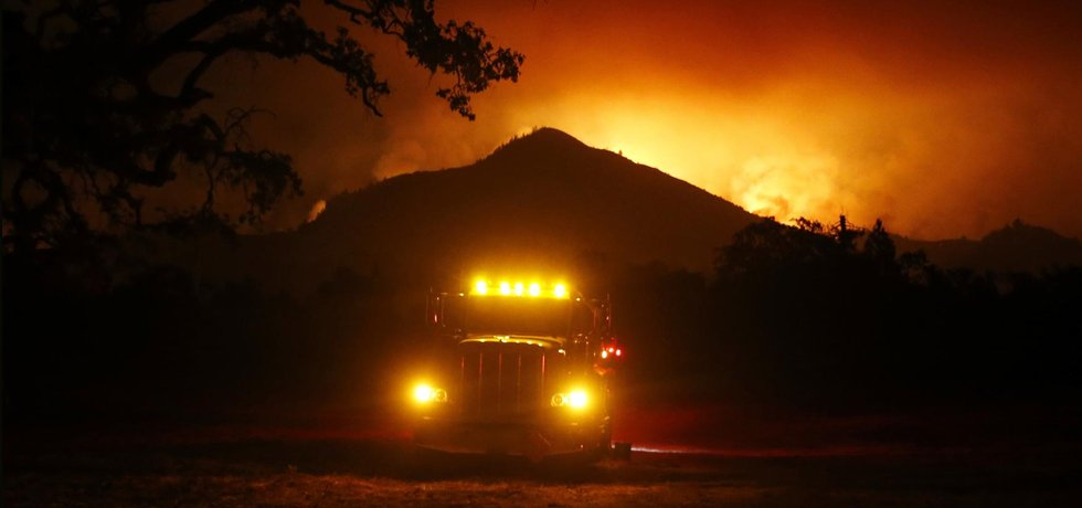 Požár lesa v Kalifornii