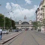 Výstaviště - Nové přemostění ulice Dukelských hrdinů - zákres do fotografie