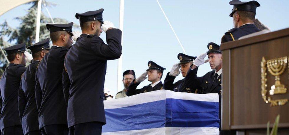 Pohřeb Šimona Perese v Jeruzalémě