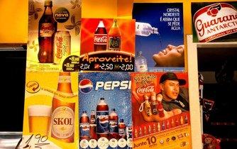 Sladké nápoje dominují na trhu nejen v Brazílii. Ilustrační foto.