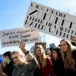 Protest studentů v Berlíně.