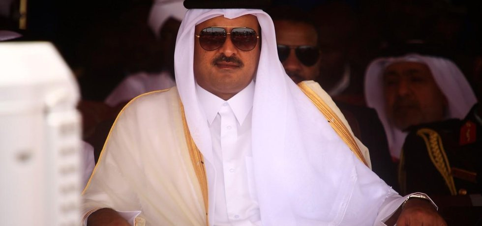 Katarský emír Sheikh Tamim bin Hamad al-Thani
