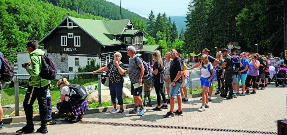 Turisté v Krkonoších, ilustrační foto