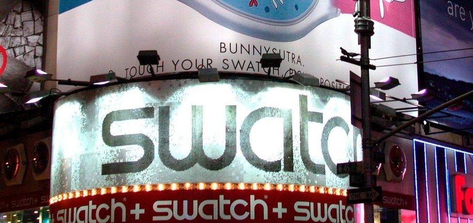 Reklama na hodinky Swatch
