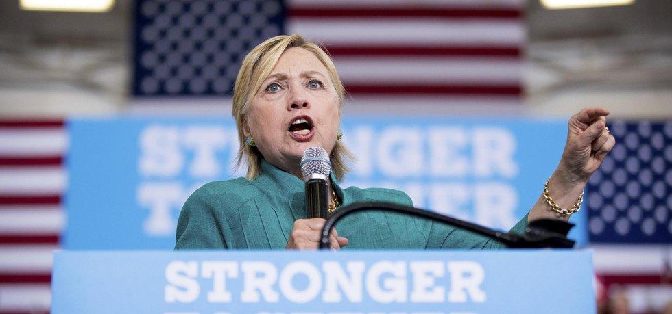 Kandidátka demokratické strany na prezidentku USA Hillary Clintonová