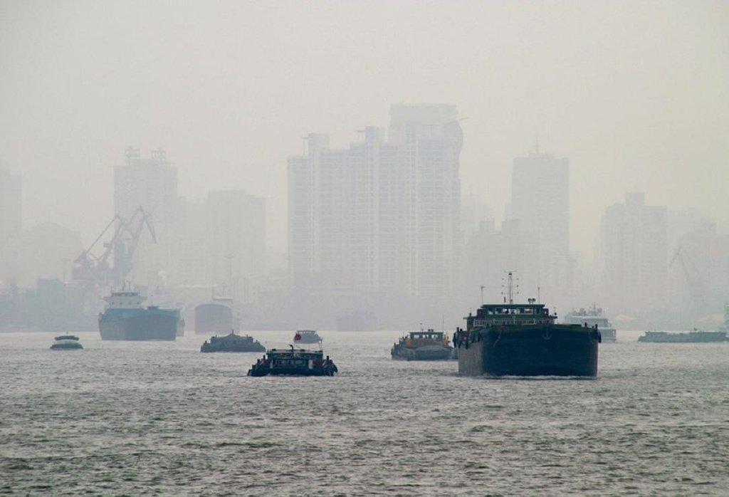 Smog v Šanghaji.
