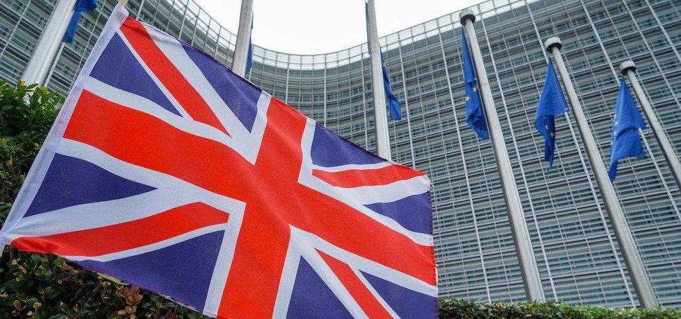 Britská vlajka v Bruselu, ilustrační foto