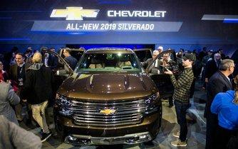 Modernizovaný Chevrolet Silverado pro rok 2019.