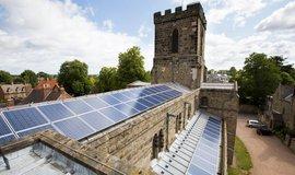Anglikánská církev chce více používat solární panely, ilustrační foto