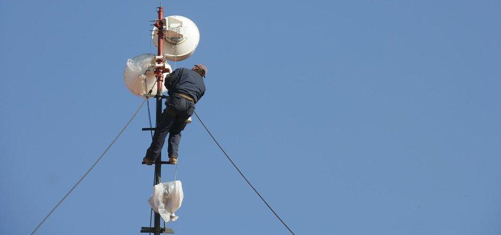 Anténa přenášející signál wi-fi