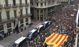 Protesty v Katalánsku
